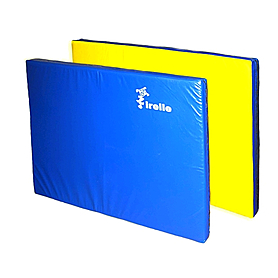 Мат гимнастический 80х120х8 см желто-синий