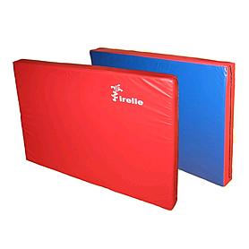 Мат гимнастический 80х100х8 см красно-синий