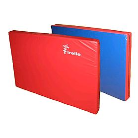 Мат гимнастический 100х120х10 см красно-синий