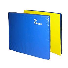 Мат гимнастический 100х100х10 см желто-синий