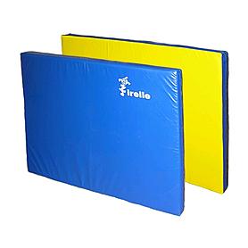 Мат гимнастический 100х120х10 см желто-синий