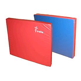 Мат гимнастический 100х100х10 см красно-синий