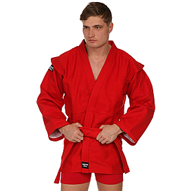Куртка для самбо красная Green Hill