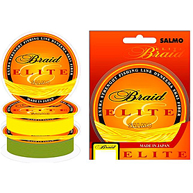 Шнур Salmo Elite Braid Yellow 125м 0,20мм 14,10кг желтый