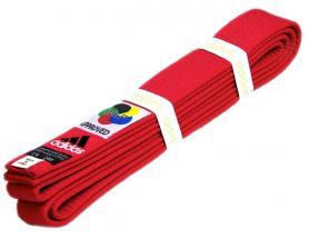 Пояс для кимоно Adidas WKF Approved красный